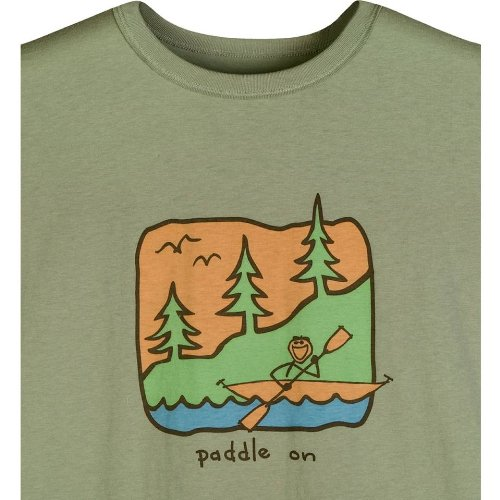 Life Is Good Inc. Paddle On Men's Good Karma Organic Tee