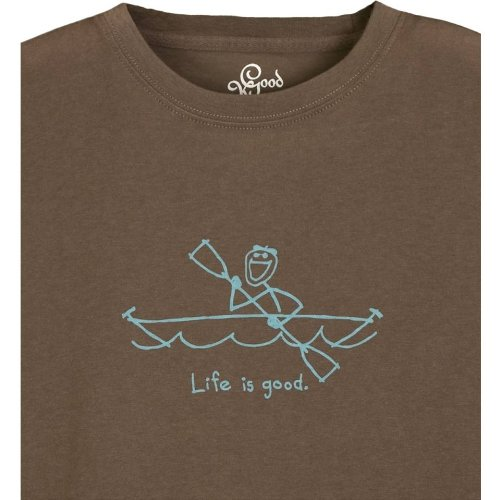 Life Is Good Inc. Jake Kayak Men's Good Karma Organic Long Sleeve Tee