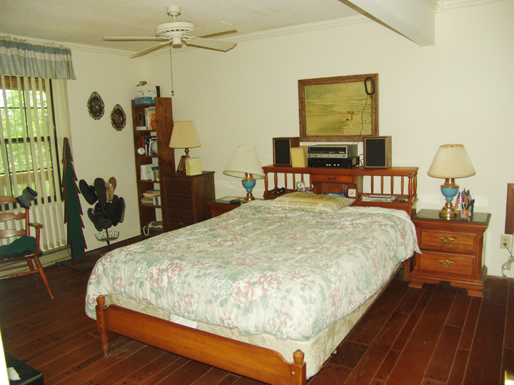 Master Bedroom with Hardwood Floors
